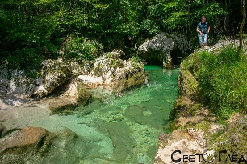Каньонът Мостница в Словения