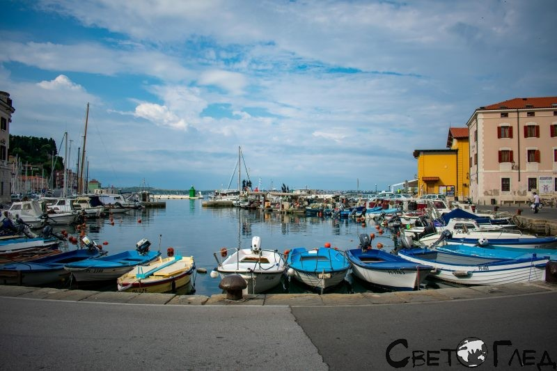 Пристанището на Пиран