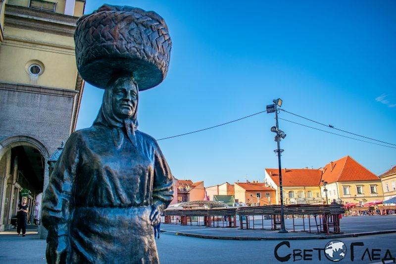 Пазарът Долац, Загреб