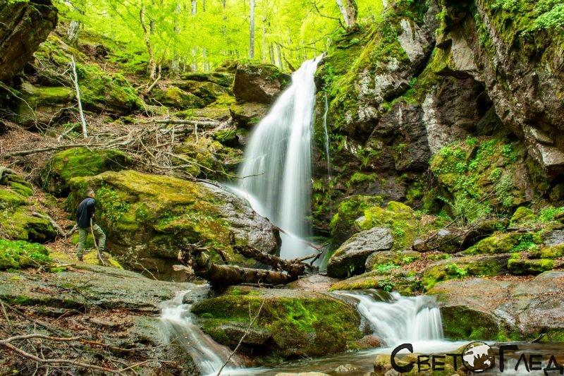 Ланджин скок, Копренските водопади