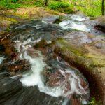 Към Ланджин скок, Копренските водопади