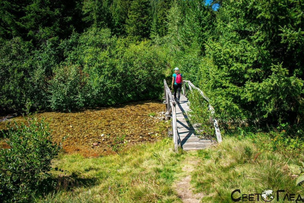 Дървен мост, Тиха Рила